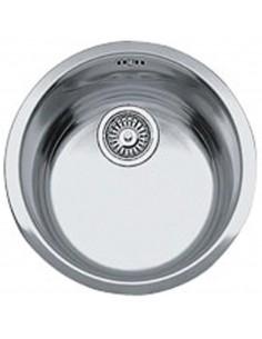 Evier Rontondo à encastrer - 1 cuve seule - diamètre 440 mm Inox lisse FRANKE