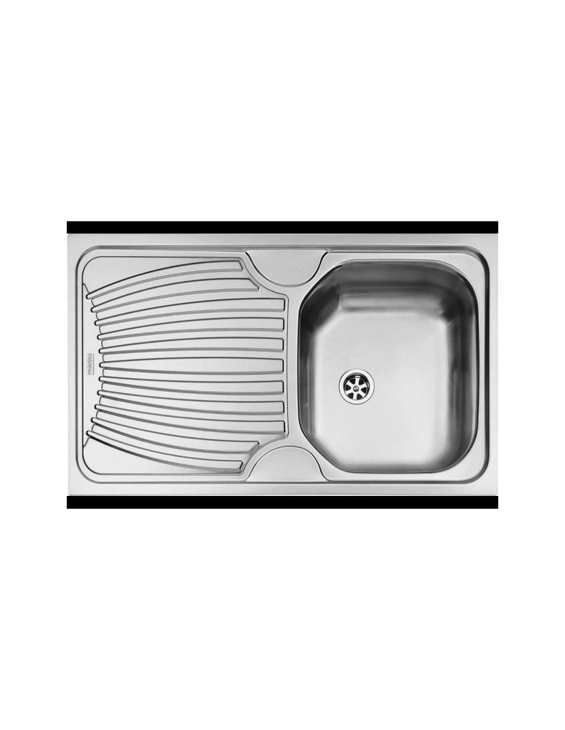 Evier ondula encastrer 86x50 cm oex611 1 cuve 1 for Evier cuisine 86x50