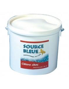 Chlore choc piscine source bleue seau 5 kg