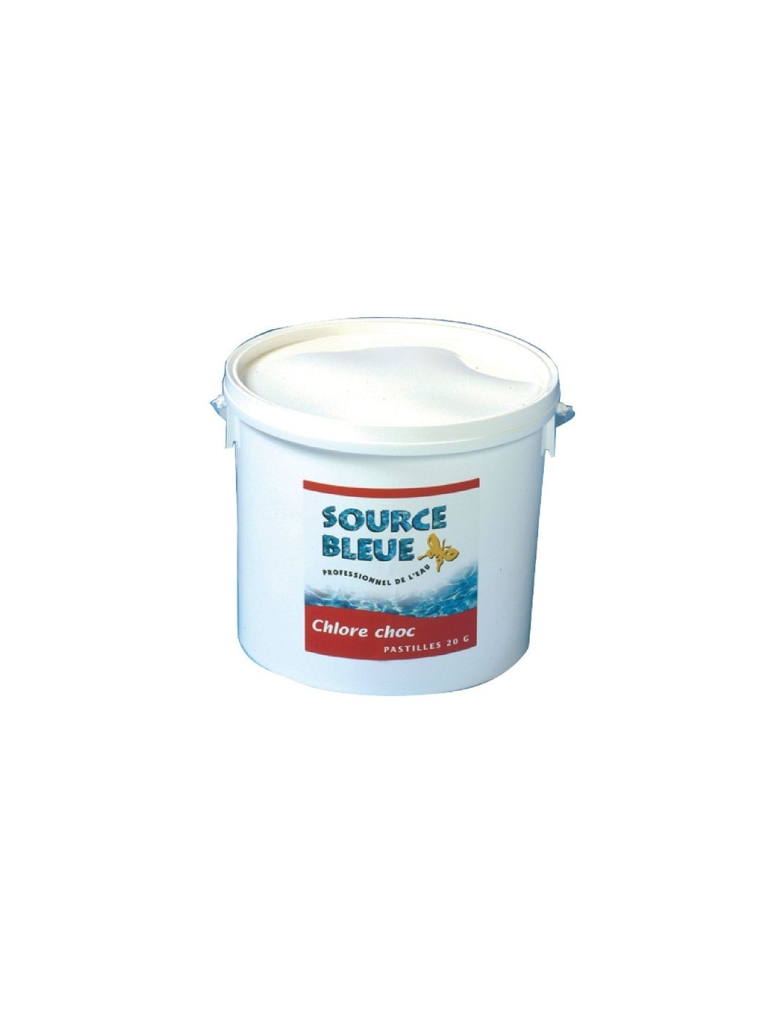 Chlore choc source bleue seau 5 kg for Chlore choc piscine