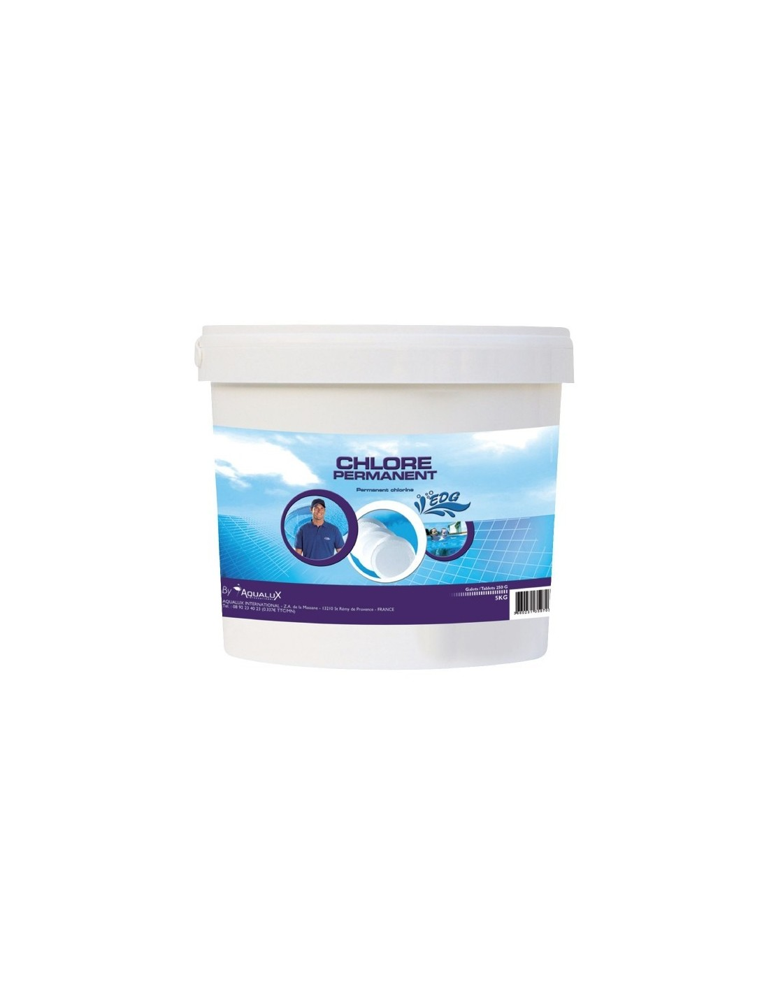 Chlore permanent seau 5 kg for Chlorine piscine