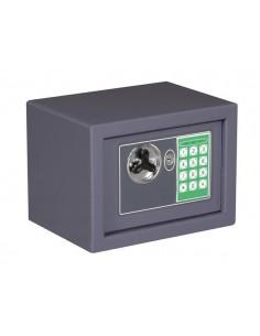 Coffre-fort électronique - 23 x 17 x 17 cm - gris