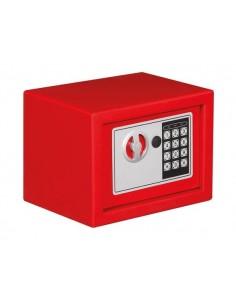 Coffre-fort électronique - 23 x 17 x 17 cm - rouge