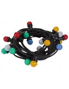 Guirlande de fête à led, 11.5m, 20 lampes led multicolores
