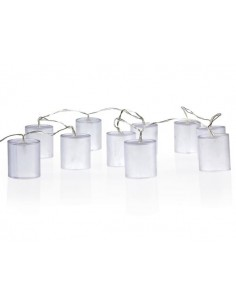 Guirlande led - lampes cylindriques avec effet holographique