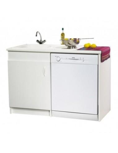 Meuble de sous vier option lave vaisselle 120 x 60 - Meuble cuisine lave vaisselle ...
