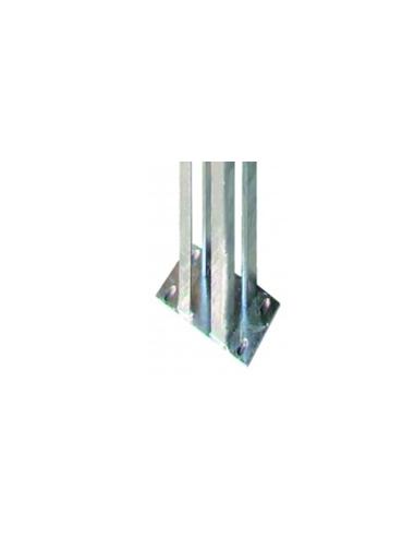 Platine galva pour pilier de portail alu 118x118