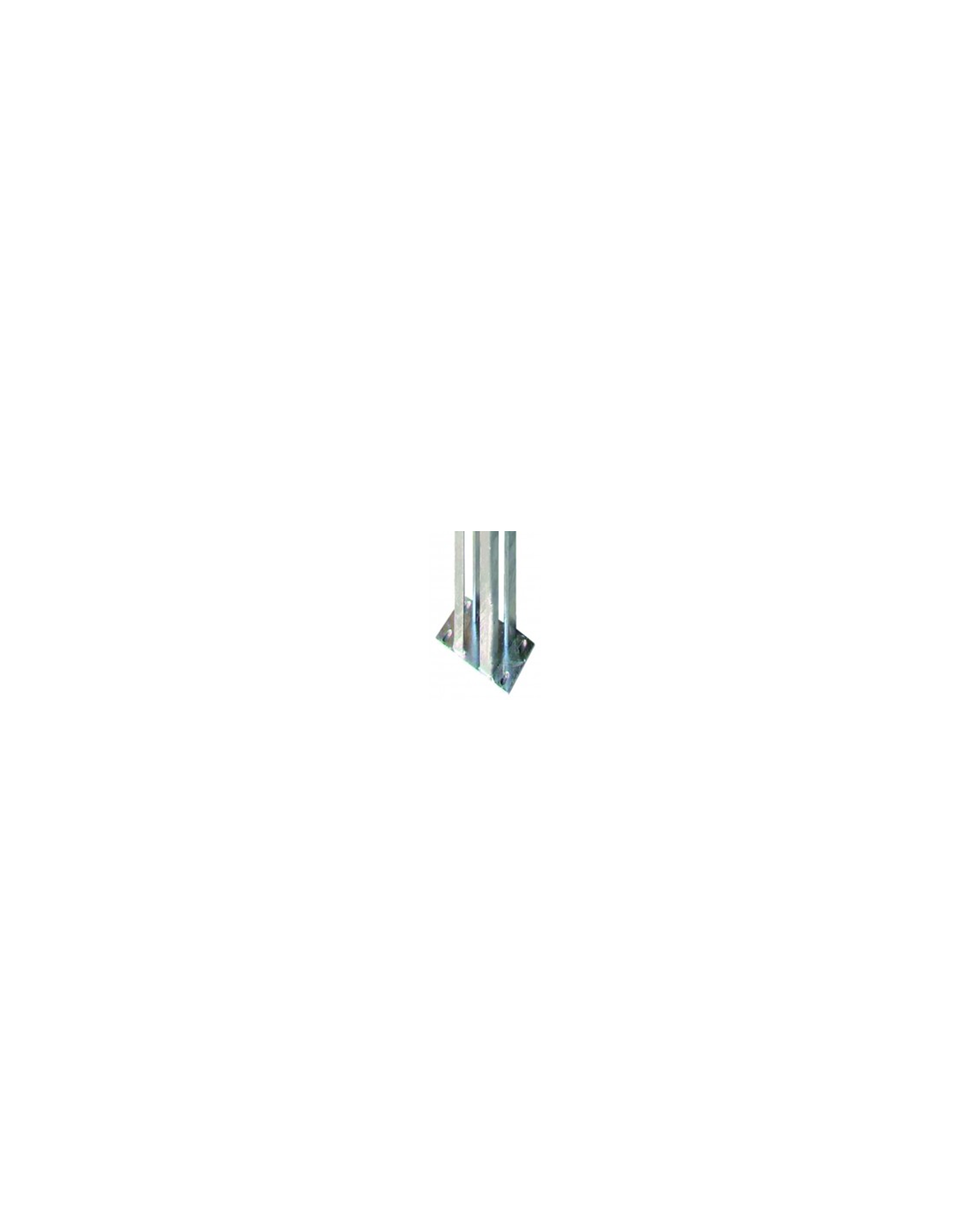 platine galva pour pilier de portail alu 118x118. Black Bedroom Furniture Sets. Home Design Ideas