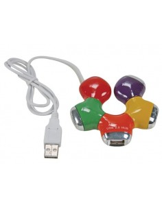 Hub usb 2.0 / 4 ports multicolore