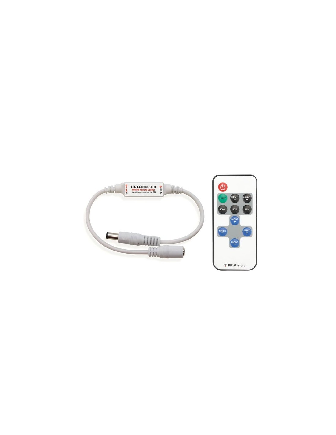 Mini variateur led 1 canal avec t l commande rf kit - Telecommande eclairage exterieur legrand ...