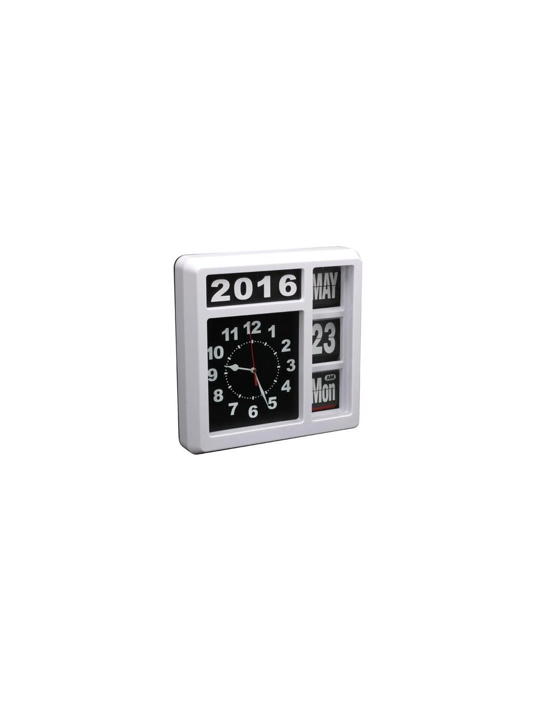 Horloge murale chiffres sautants avec calendrier 31 - Horloge murale avec calendrier ...