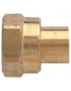 Raccord 2 pièces pour gaz butane/propane pour tube ø 12