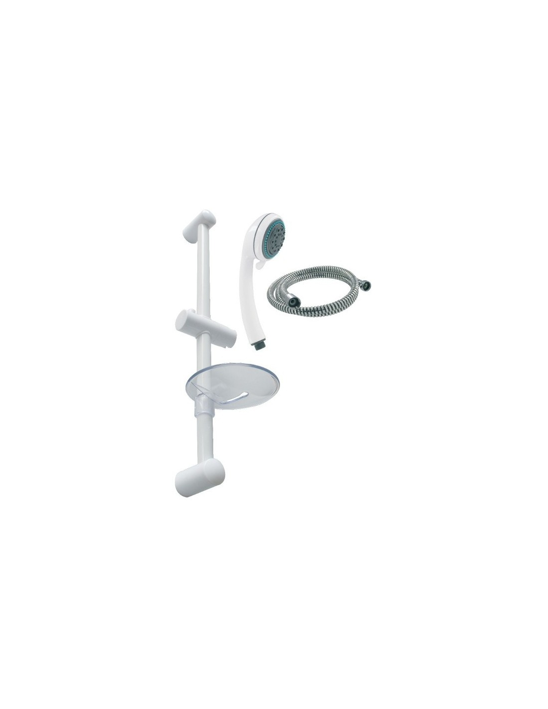 Ensemble de douche 4 jets finition blanc ensemble de for Bain et douche ensemble