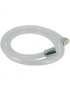 Flexible tressé blanc transparent l. (m) 1,5