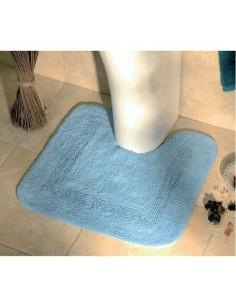 Tapis de bain contour uni couleur bleu lavande