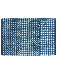 Tapis de bain coton couleur bleu