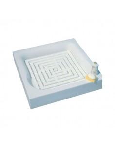 Caillebotis plastique opaque couleur blanc opaque