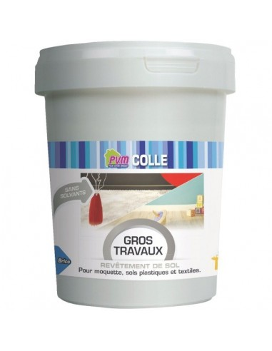Colle rev tement de sol pot plastique 1 kg colle - Revetement de sol plastique ...
