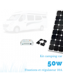 Kit panneau solaire camping car 50 W complet 12 V