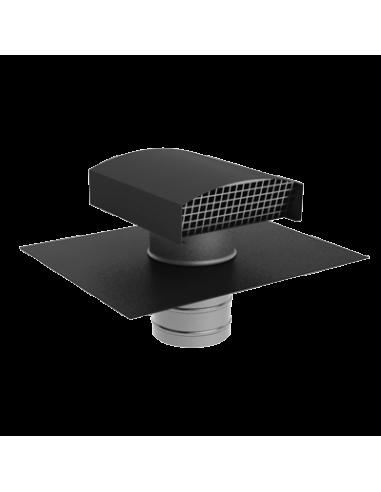 sortie de toiture vmc 160 mm aldes en galva pour ardoise noire. Black Bedroom Furniture Sets. Home Design Ideas