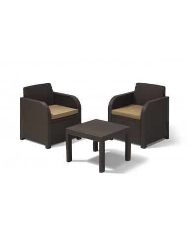 salon de jardin en r sine 2 fauteuils et table basse. Black Bedroom Furniture Sets. Home Design Ideas