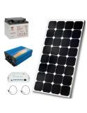 Kit solaire 50w , batterie 38 ah, convertisseur 500w