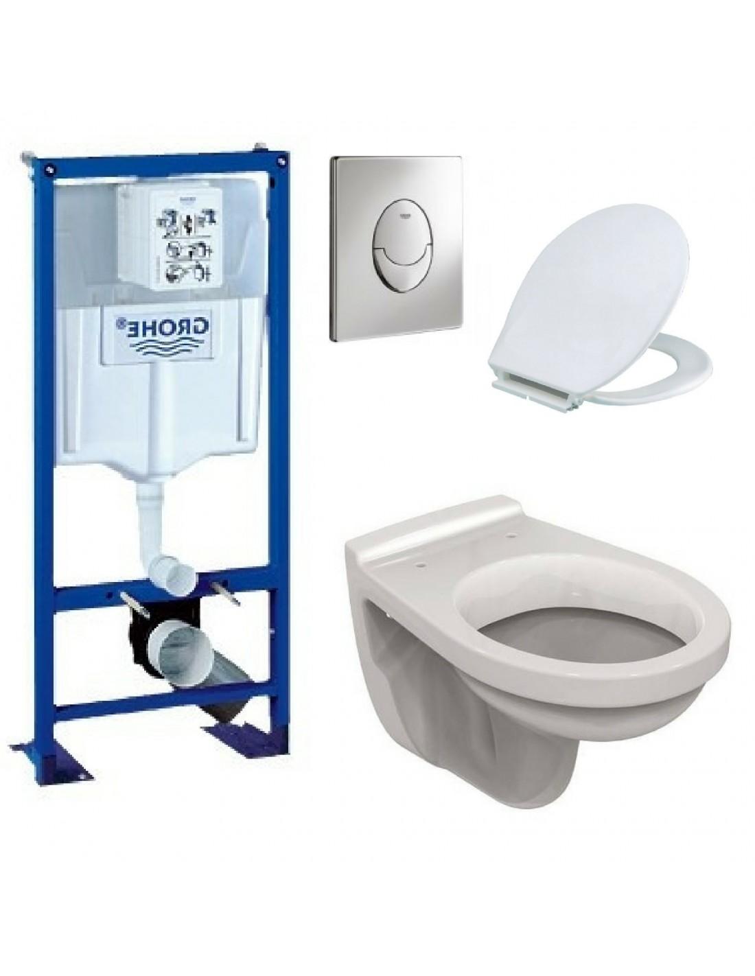 Bati support ulysse wc suspendu grohe plaque grise ebay - Wc suspendu grohe ...