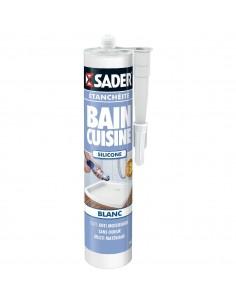Mastic bain/cuisine materiau synthétique blanc