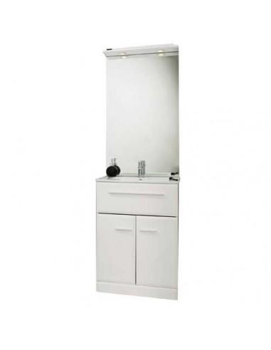 Meuble de salle de bains au sol 60 cm kyala for Meuble 60 cm de large