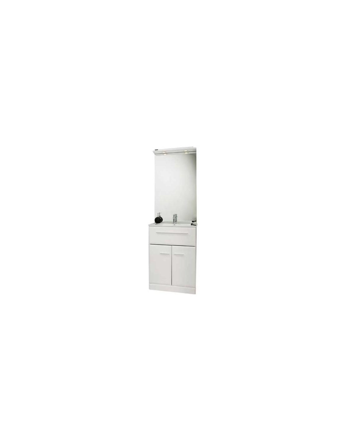 Meuble de salle de bains au sol 80 cm kyala for Meuble de salle de bain 80 cm