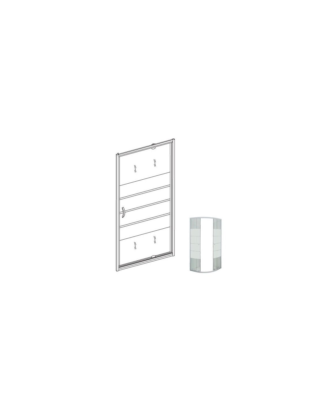 paroi de douche eris porte pivotante pour bac 80 cm. Black Bedroom Furniture Sets. Home Design Ideas