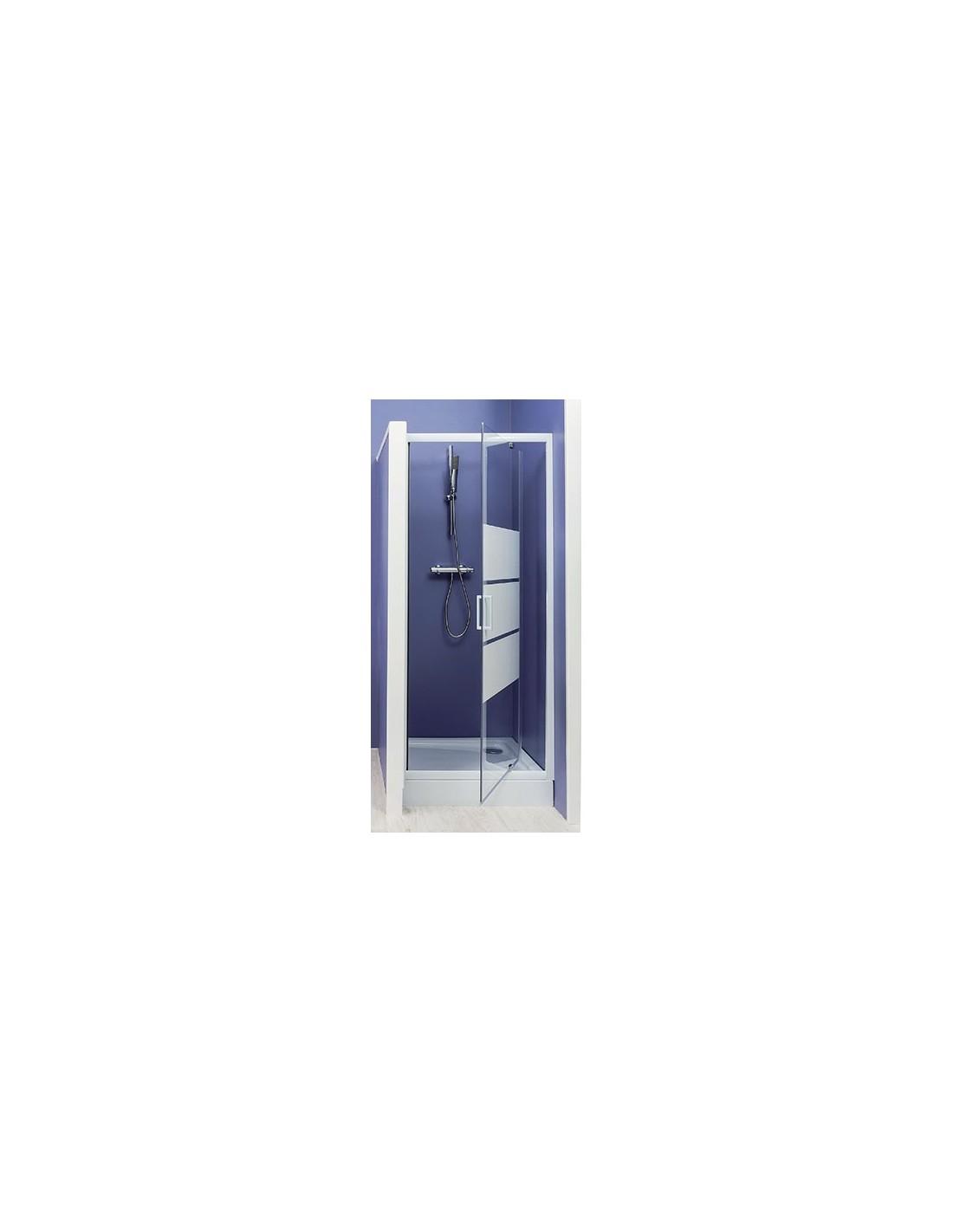 paroi de douche aumea porte pivotante acc s de face 80 cm. Black Bedroom Furniture Sets. Home Design Ideas