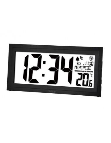 Horloge dcf murale avec calendrier humidit temp rature - Horloge murale avec calendrier ...