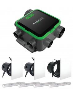 Kit EasyHOME PureAIR COMPACT PREMIUM + Grilles de ventilation ColorLINE + Entrées d'air