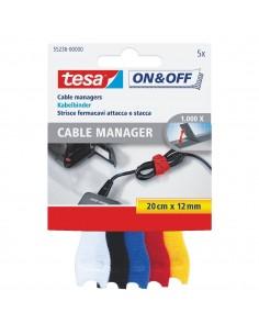 Organisateur de cable 20 x 12 l. (cm) x l. (mm) assorti 5