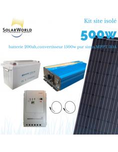 Kit solaire 520 wc, convertisseur 1500 watts, batterie 200 ah