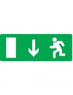 Etiquette de signalisation adhésive face avant    descendre