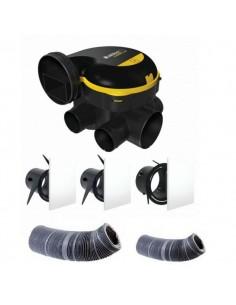 Kit complet gaines et vmc simple flux easyhome auto + grilles de ventilation colorline
