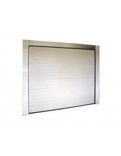Porte de garage sectionnelle 40mm blanche sans moteur