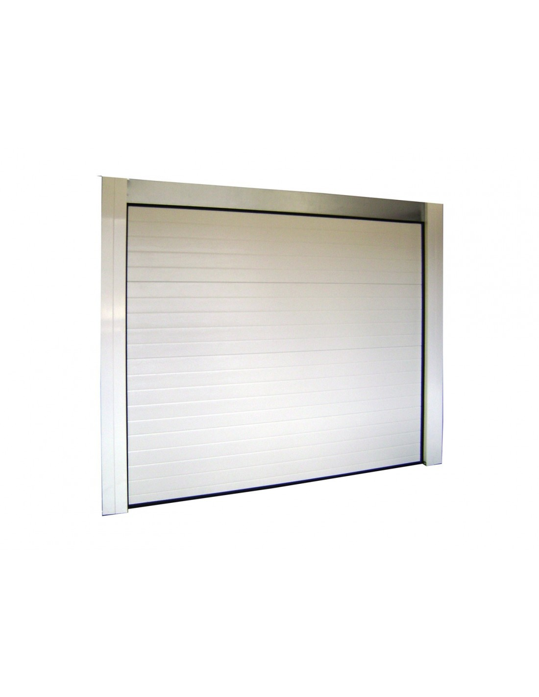 Porte de garage sectionnelle 40mm blanche sans moteur - Moteur porte de garage sectionnelle ...