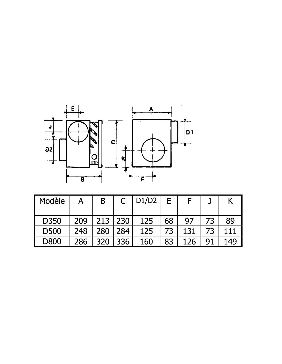 caisson de distribution d 39 air chaud 500m3 h difuzair de nather. Black Bedroom Furniture Sets. Home Design Ideas