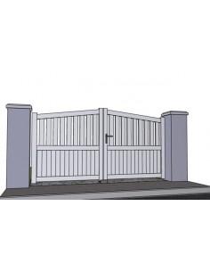 Portail battant alu semi ajour portail cloture 2 for Portail 2m50