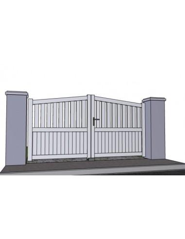 Portail battant aluminium ajoure ciboure biais haut sur mesure for Portail 2m50