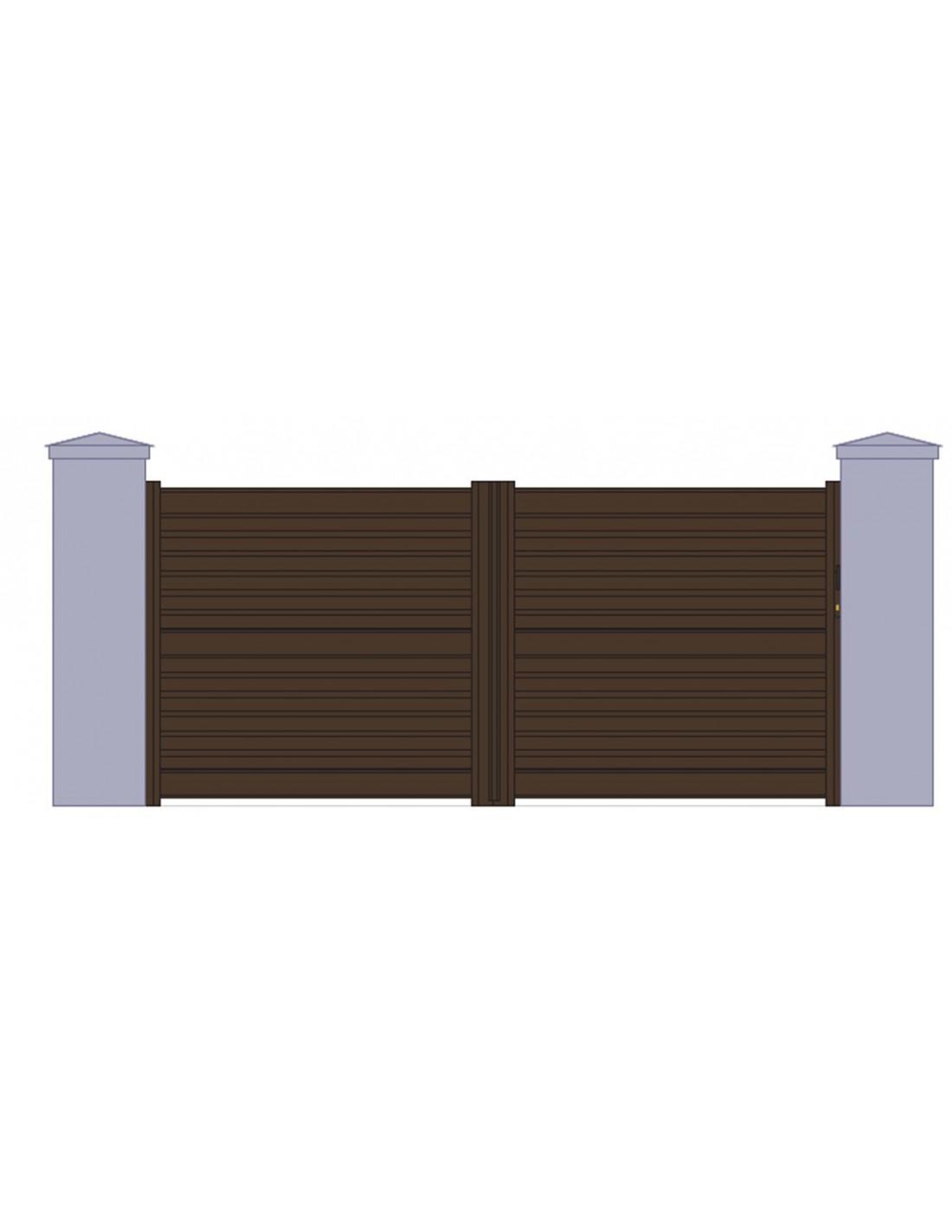 portail aluminium coulissant persienn l 3m00 5m00. Black Bedroom Furniture Sets. Home Design Ideas