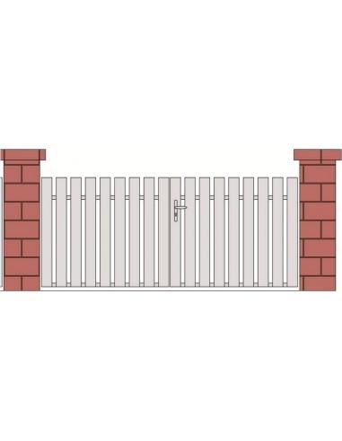 Portail pvc battant pent 3m sur mesure portail for Portail exterieur sur mesure