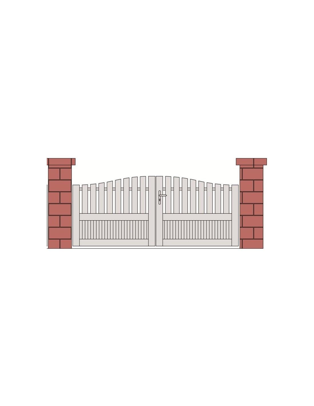 Portail Sur Mesure Pvc Maison Design