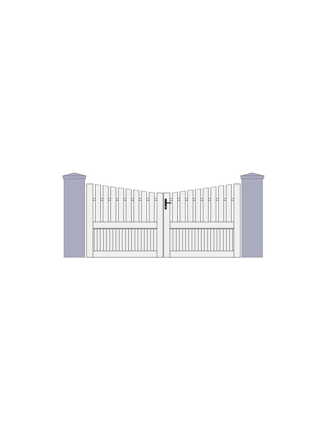Portail pvc battant trevigne 3m 5m sur mesure portail et for Portail pvc sur mesure