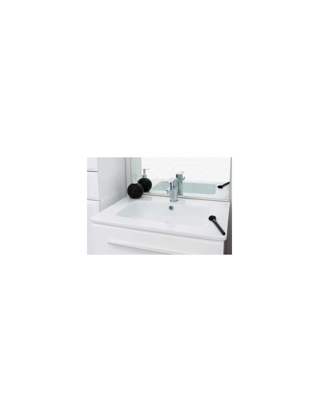 Meuble de salle de bains au sol 80 cm kyala for Meuble salle de bain 80 cm