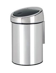 Poubelle de salle de bains touch bin, 3 litres mat steel