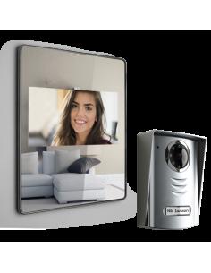 Interphone Vidéo LUTA extra plat  effet miroir